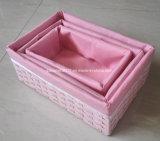 Сплетенная коробка хранения с вкладышем