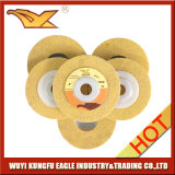 Диск высокого качества Non сплетенный полируя (4 дюйма 120#, желтого цвет)