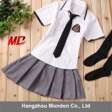 Camiseta blanca mini falda estilo Inglaterra uniforme de la Escuela Secundaria