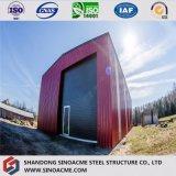 Entrepôt de haute résistance/construction préfabriquée de structure métallique jetée/Wokshop