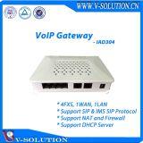 4FXS + 1wan + 1LAN Ims van de Steun van de Gateway van VoIP Adapter van de Telefoon van VoIP van het Protocol van het SLOKJE de Analoge RJ45 aan Rj11 ATA Apparaat