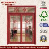 最上質の内部の木のガラス引き戸(Gsp3-009)