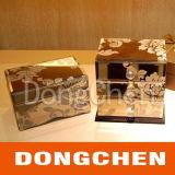 형식 주문 로고에 의하여 인쇄되는 장식용 번쩍이는 서류상 포장 상자