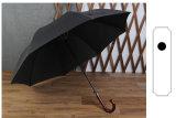 Зонтик бунта прямой штанги деревянных бизнесменов зонтика супер длинней ручки крюка автоматических анти-