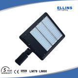 광전지 150W Shoebox LED 가로등이 옥외 주차장에 의하여 점화한다
