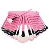 Cepillos cosméticos del maquillaje de la muchacha promocional 32PCS con el bolso rosado del Portable de la PU