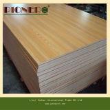 madera contrachapada de madera de la melamina del grano de 17m m para la cabina