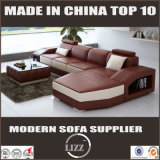 居間のための贅沢な現代革ソファー