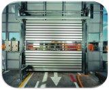 Puerta rápida dura de aluminio de la persiana enrrollable del garage de la seguridad de la espuma de la PU del viento anti