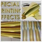 Folheto quente de alta qualidade que estampa o filme de transferência de ouro