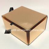 Новая акриловая коробка ювелирных изделий зеркала с бархатом