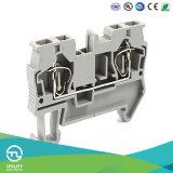 Bloc de jonction de câblage de ressort Dinrail Connecteur de câble électrique Jut3-4