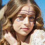 El Rhinestone temporal del tatuaje del Eyeliner de las etiquetas engomadas del tatuaje del Rhinestone rosado Eyes la etiqueta engomada (S022)