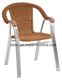 Presidenza di alluminio del rattan del giardino esterno (LL-0079)