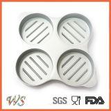 Ws Bp004 4 구멍 햄버거 압박 음식 급료 알루미늄 고기 압박 부엌 공구