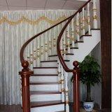 Escalera de caracol de madera de roble sólido de estilo europeo (GSP16-012)