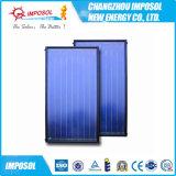 Chauffe-eau solaire titanique bleu de plaque plate
