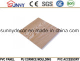나무로 되는 박판으로 만들어진 플라스틱 건축재료 PVC 천장 벽면, Cielo Raso De PVC