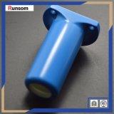 Tournage CNC de pièces en aluminium bleu anodisé