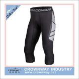 Cortocircuitos cosechados compresión de los deportes de los pantalones de las medias de los hombres