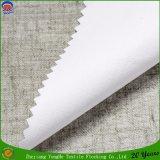 Tissu de flocage imperméable à l'eau de toile de rideau en arrêt total tissé par tissu de rideau en guichet de polyester