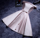 2017 Satin Bowknot Evening Party Bridesmaid Prom Dress (Dream-100041)