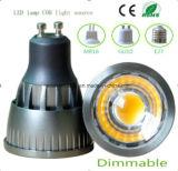 Bombilla de intensidad regulable Ce GU10 5W LED COB