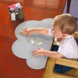 非赤ん坊の雲のシリコーンのマットのスリップおよび洗濯できる子供Placemat