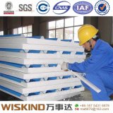 Los paneles de acero aislados del material para techos del panel de emparedado del EPS del almacén/de la casa