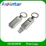 Movimentação inoxidável do flash do USB do metal da vara do USB do giro da vara do USB do Keyring