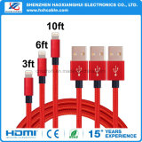 Цветастый зарядный кабель данным по USB 2.1A для вспомогательного оборудования iPhone