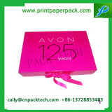 Impresión de papel rígido Caja de regalo con cinta lazo cerrado