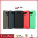 Caixas claras Ultra-Magros por atacado do telefone da fibra do carbono para LG G6