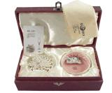 Rectángulo de joyería de papel/caja de embalaje de la joyería con el sello caliente de la insignia