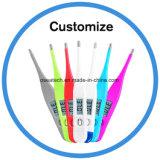 Cabeza de hogar el tono de pantalla LCD flexible frente termómetro digital para bebés