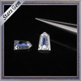 Diamante libero di Moissanite del taglio del richiamo del cono di bianco 6*4mm