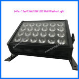Interior de la etapa de LED DMX512 bañador de pared 24 PCS *12W