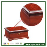 Joyería clásica europea de la caja de almacenamiento de madera