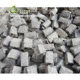 Tuile et coin faits au hasard de taille du granit G603 gris-clair pour le revêtement de mur