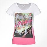 De Sexy Cotton/Polyester Afgedrukte T-shirt van de manier voor Vrouwen (W019)