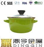 도매 중국 제조자 색깔 사기질 무쇠 둥근 불고기용 냄비