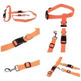 ナイロン連続した飼い犬の鎖ロープのトレーニングのスリップの調節可能な牽引カラーロープの鎖