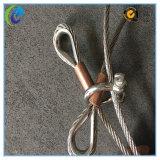 De Slingers van de Kabel van de Draad van het roestvrij staal met de Metalen kap van het Koper