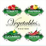 Kundenspezifische Drucken-wasserdichte Gemüseaufkleber