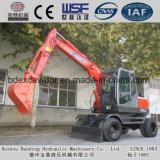 Máquinas escavadoras vermelhas pequenas da roda da maquinaria de Baoding com GV