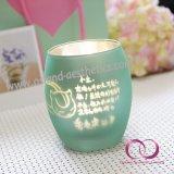 De kleurrijke Kop van de Kaars van de Houder van de Kaars van het Glas van de Nevel voor de Reeks van de Gift van het Voorstel van de Liefde