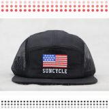 カスタムロゴパッチが付いている新しい5つのパネルの帽子