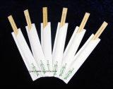 Chopstick de bambu da alta qualidade com luvas do logotipo