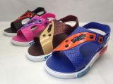 Детей ПВХ/Pcu кожаные удобные спортивные сандалии (21go1705)