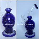 """12 """" blaues Faberge Ei-Glaswasser-Rohre für das Rauchen"""